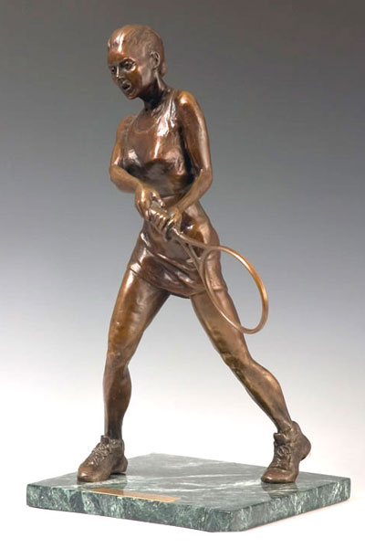 Guided Force bronze sculpture