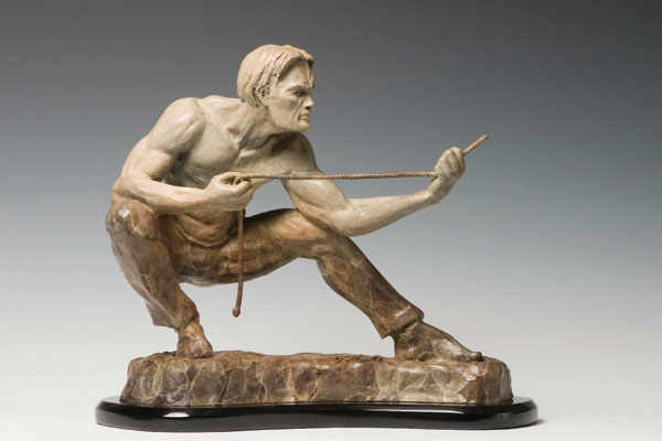 Heightening Expectations bronze sculpture by Gregory Reade