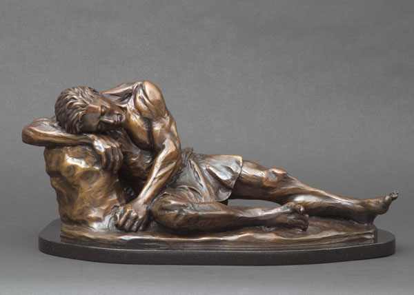 Hylas bronze sculpture