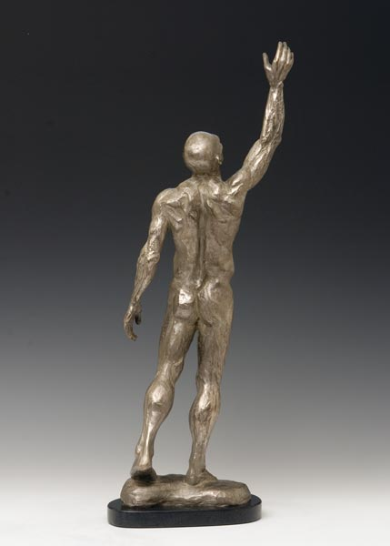 Reach bronze sculpture